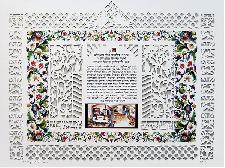 Jewish Art - Candle lighting Prayer Papercut